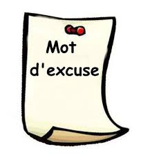 Mot d'excuse